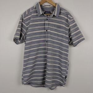 Patagonia Striped Organic Cotton Bluffside Shirt